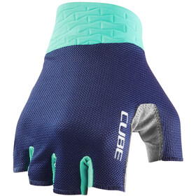 Cube Performance Short Finger Gloves, blue/mint